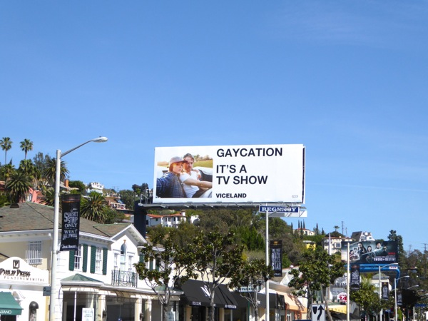 Gaycation TV show billboard