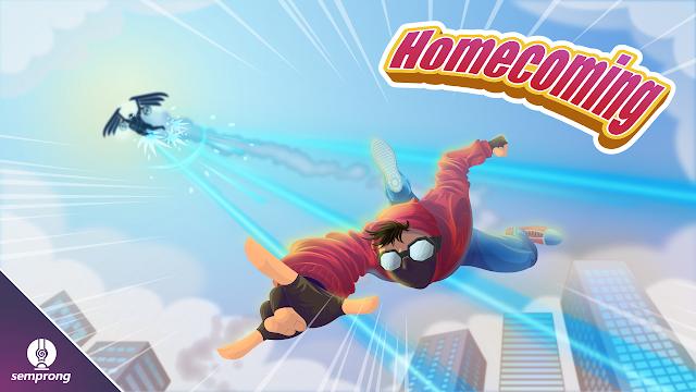 ilustrasi komik spiderman homecoming menggunakan inkscape