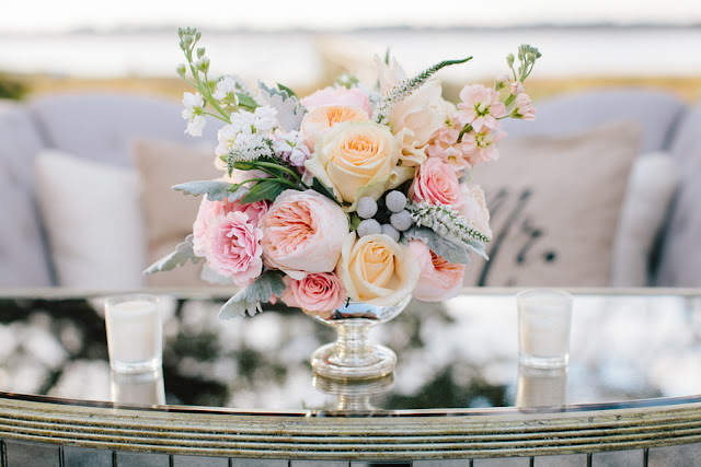 shabby+chic+wedding+spring+summer+pastel+champagne+pink+black+white+bride+groom+bouquet+ceremony+centerpiece+floral+flower+bridesmaid+dresses+dress+riverland+studios+16 - Charleston Pastel