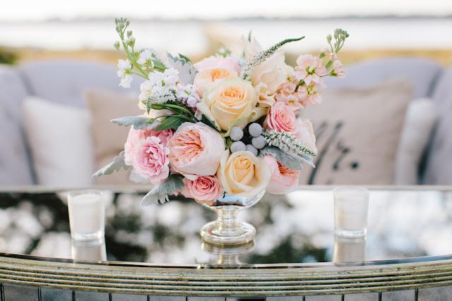 shabby+chic+wedding+spring+summer+pastel+champagne+pink+black+white+bride+groom+bouquet+ceremony+centerpiece+floral+flower+bridesmaid+dresses+dress+riverland+studios+16 - Charleston Pastel