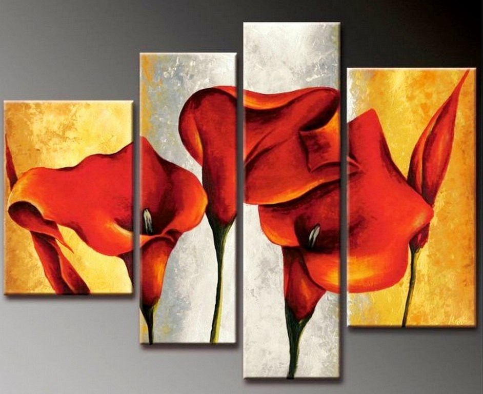 cuadros con flores de cartuchos