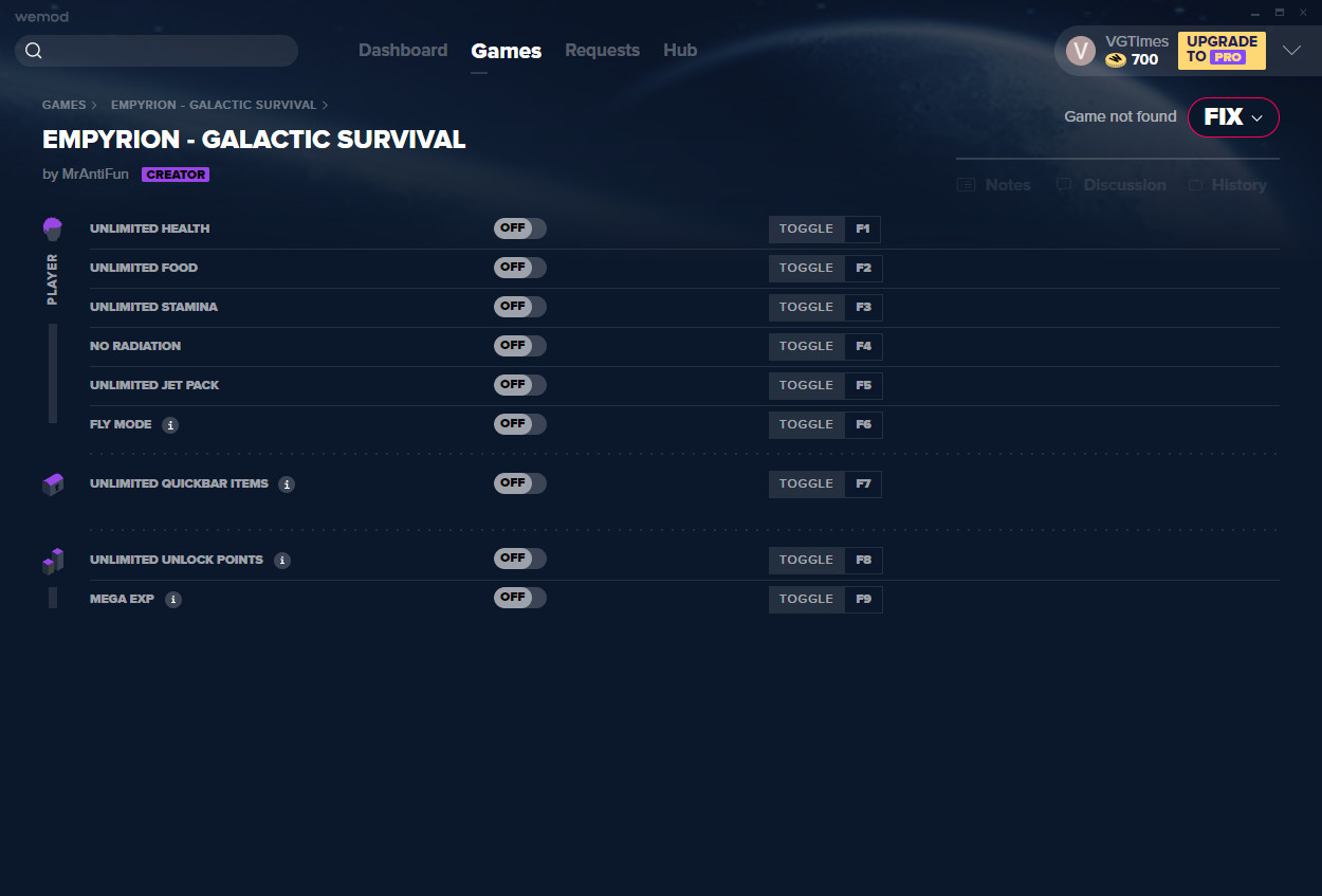 Empyrion - Galactic Survival: Trainer (+9) from 01/08/2021 [WeMod]
