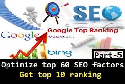 google seo ranking factors 5