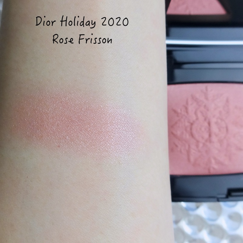 Dior Rose Frisson blush review swatch
