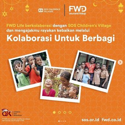 FWD Life kolaborasi untuk berbagi dengan SOS Childrens Villages
