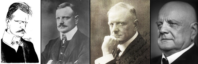 Jean Sibelius: Left to Right: 1904, 1913, 1928, 1940