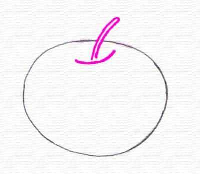 Gambar Buah Apel Pensil