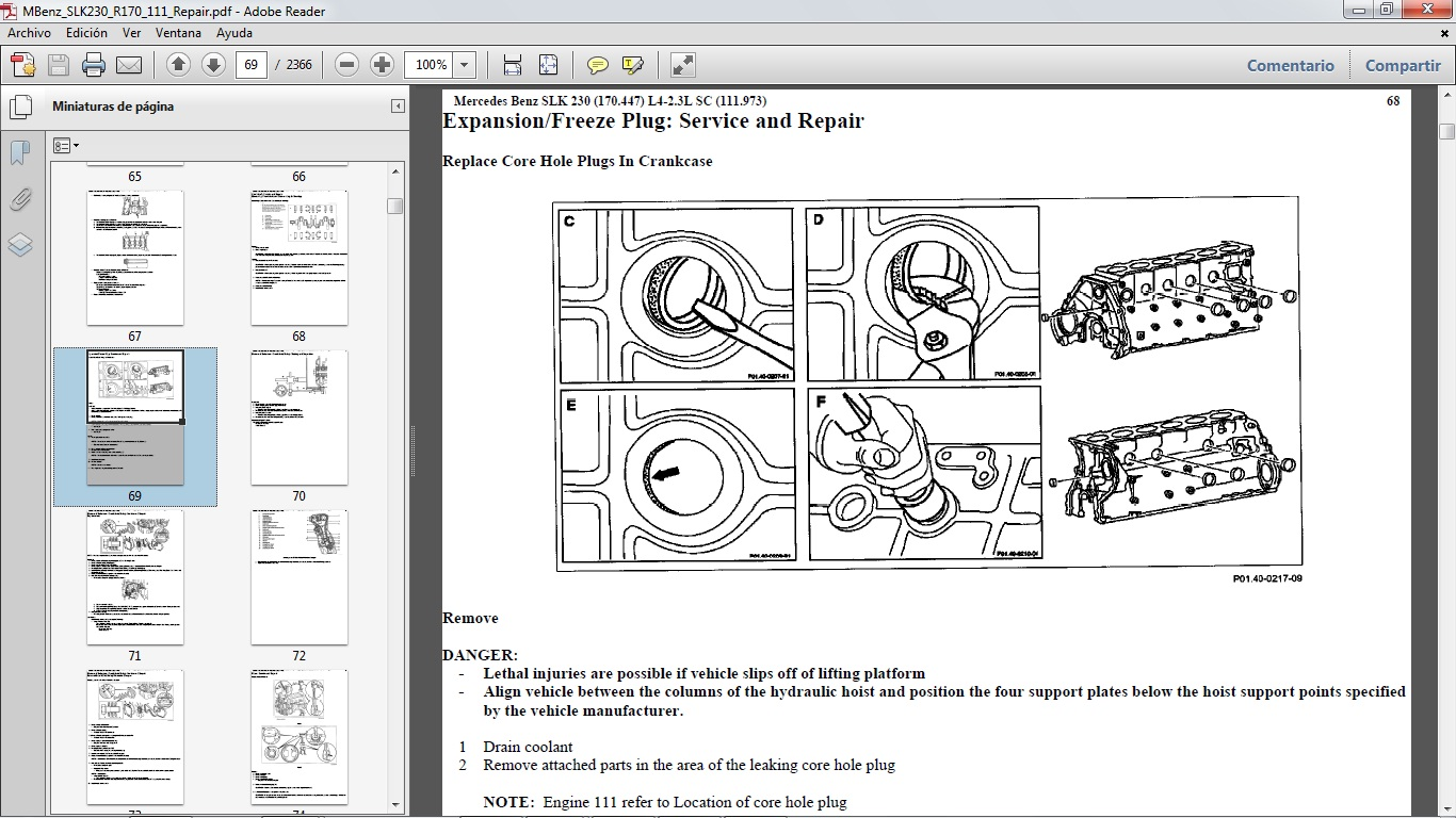 mercedes c320 engine coolant diagram wiring library manual para reparaci n del mercedes benz slk230 chassis r170 [ 1366 x 768 Pixel ]