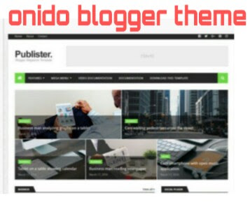 onido blogger template AMP free dawonload 2019-20