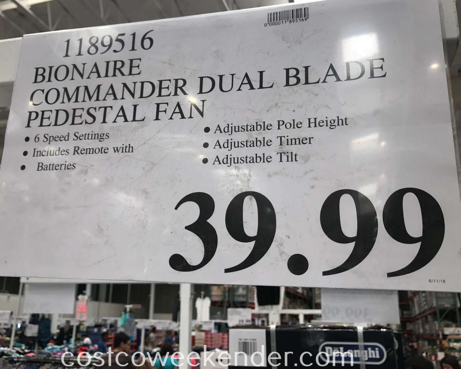 Deal for the Bionaire Commander Dual Blade Pedestal Fan at Costco