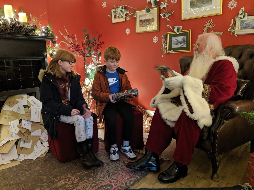 Christmas & Santa at Cragside Review  - Santa in his grotto