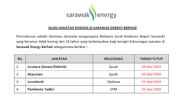 sarawak energy job