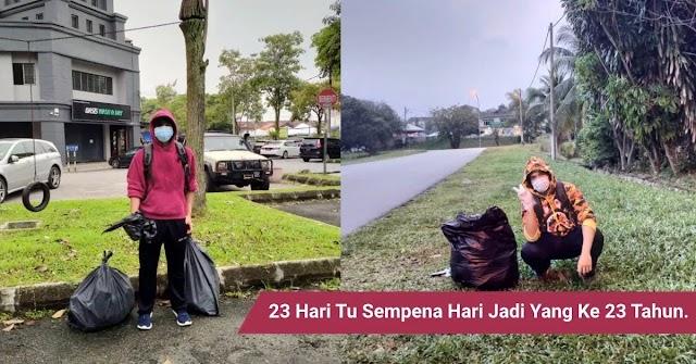 Sambut harijadi dengan mengutip sampah di sekitar Lembah Klang!