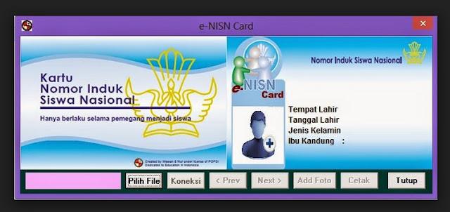 File Pendidikan Aplikasi E-NISN Berbasis Dapodik Versi Terbaru
