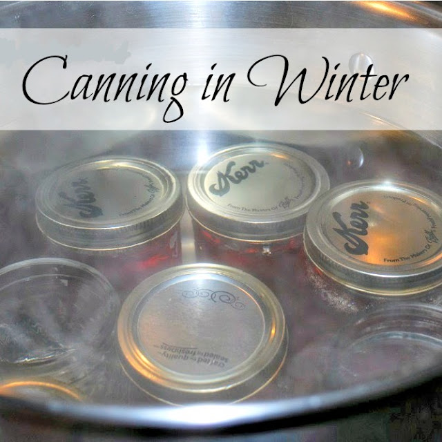 Foods to can during winter.
