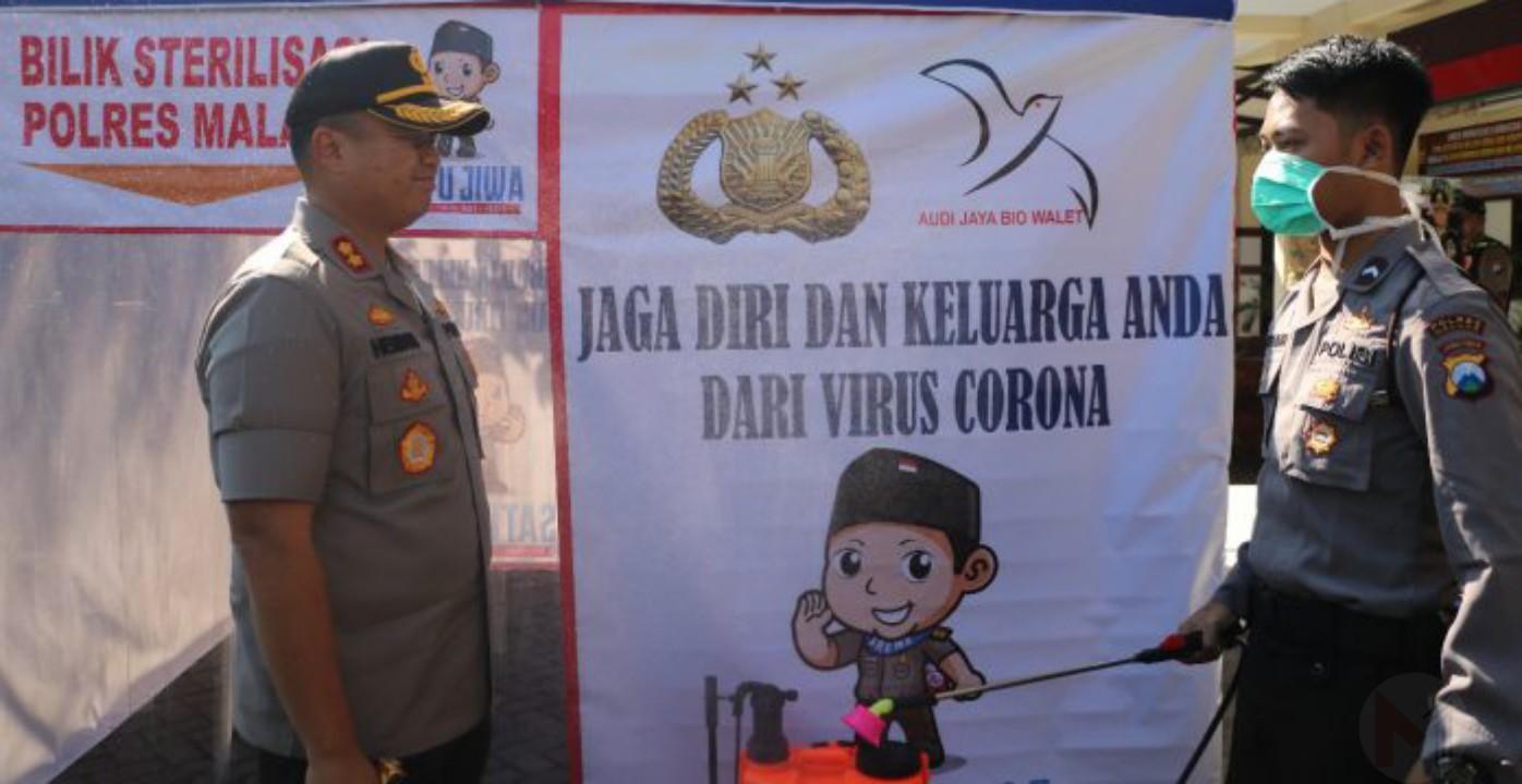 Polres Malang Siapkan Bilik Anti Covid-19 Bagi Para Tamu