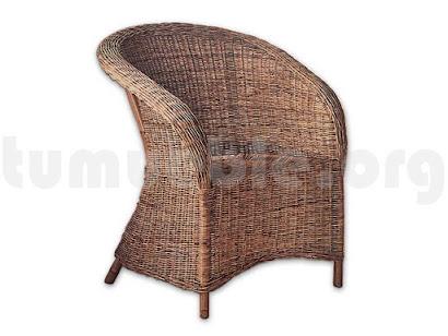 sillón mimbre natural J898