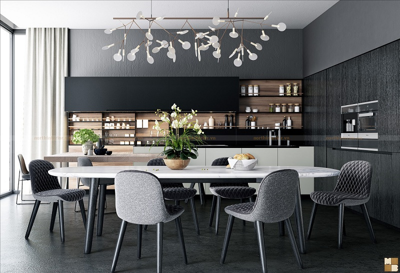 Mẫu thiết kế căn hộ chung cư 130m2 đẹp tinh tế đến từng chi tiết - H2