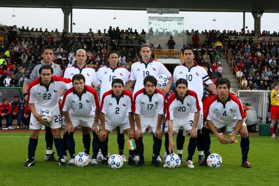Formación de Chile ante Costa de Marfil, amistoso disputado el 30 de mayo de 2006