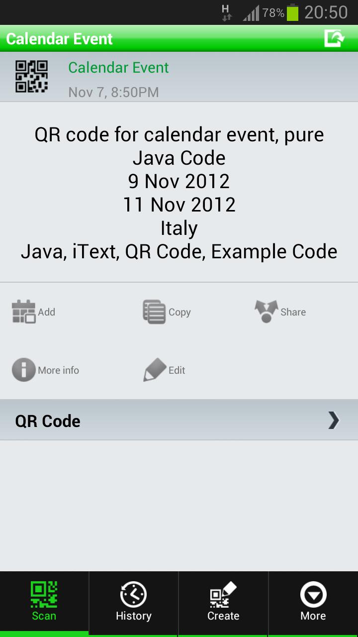 java qr code example tutorial itext thinktibits. Black Bedroom Furniture Sets. Home Design Ideas