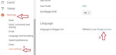 blogger blog user setting