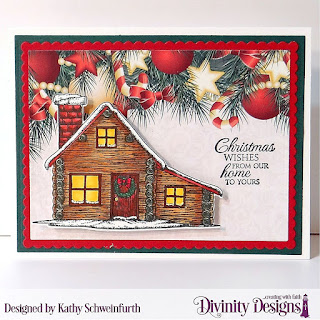 Custom Dies: Rectangles, Scalloped Rectangles Stamp/Die Duos: Home For Christmas Paper Collection: Christmas 2017