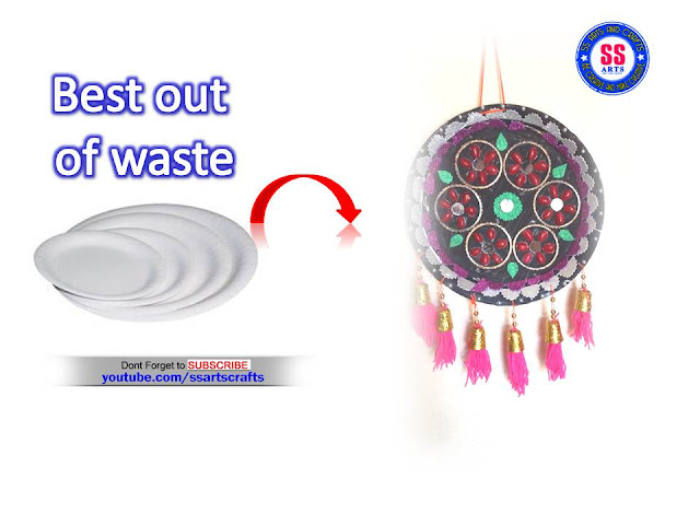 Here is best out of waste crafts,plastic spoons wall hanging,woolen wall hanging,recycled crafts,diy crafts,disposable paper plates crafts,old bangles crafts,pista shell wall hanging,how to make wall hanging using disposable plates ssartscrafts youtube channel videos