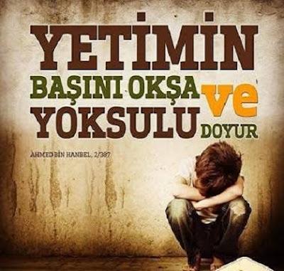 """""""Kalbinin yumuşamasını istersen; yoksulu doyur, yetimin başını okşa.."""" Hz. Muhammed (sas), hadis, sünnet, üzgün çocuk"""