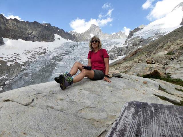 ghiacciaio pre de bar visto dal bivacco fiorio