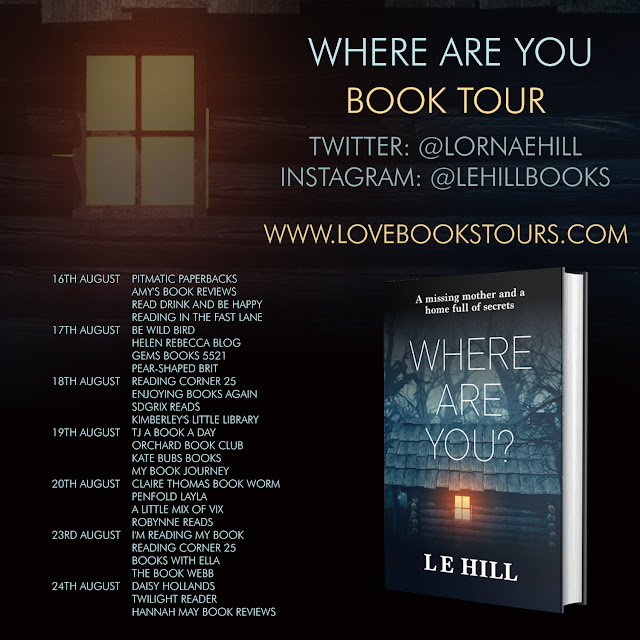 Where Are You by LE Hill book review tour poster
