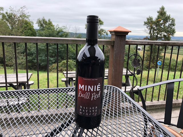 Bottle of Mini Ball Red Wine at Hauser Estates Winery in Adams County Pennsylvania