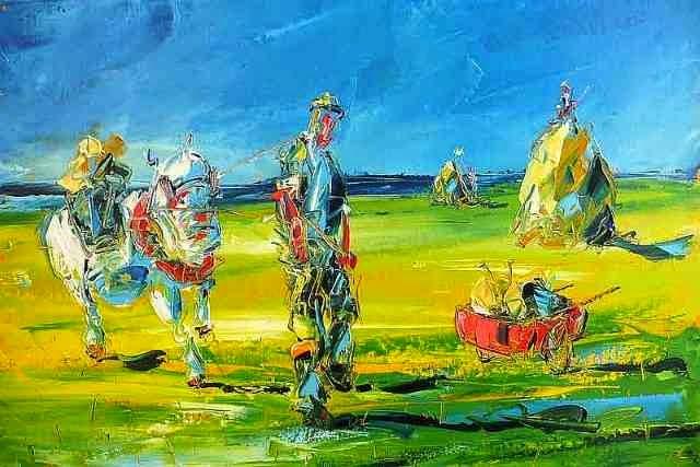 Маслом и мастихином. David Coyne