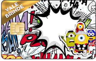 Tarjeta con forma de Visa de Minions Super Héroes.