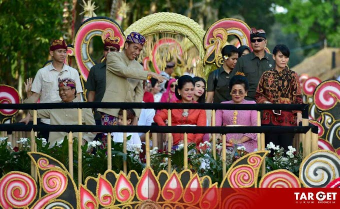 Tak Hanya Membuka Acara, Presiden Joko Widodo Ikut Menjadi Peserta Pawai Pesta Kesenian Bali 2019
