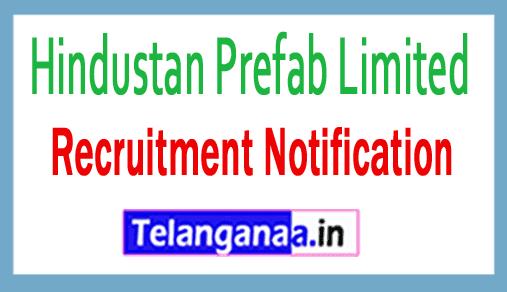 Hindustan Prefab Limited HPL Recruitment Notification
