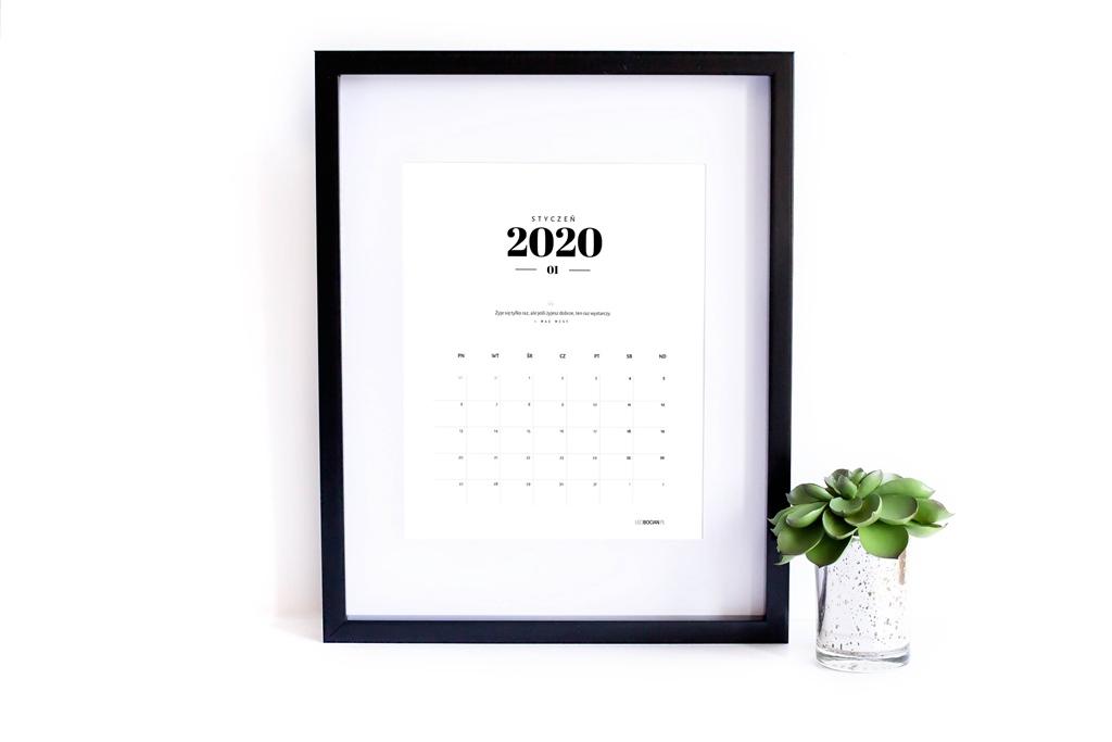 Kalendarz 2020 do druku - Leci Bocian
