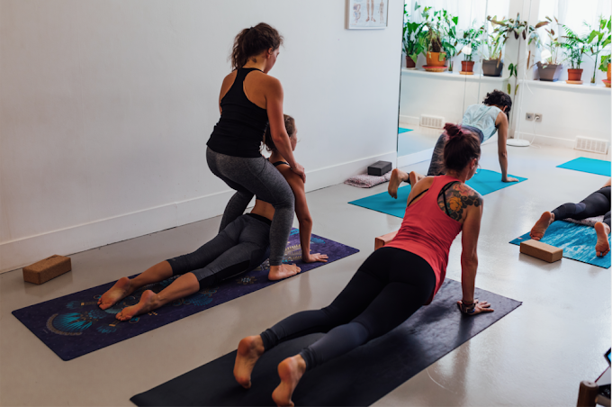 What is the right way to practice while studying a yoga online course?
