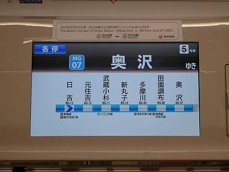 東急目黒線 各停 奥沢行き1 東急3000系