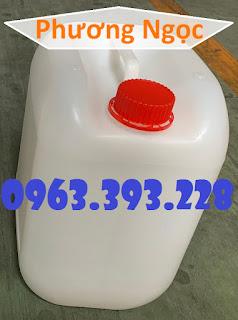 Can nhựa vuông 10 Lít, can đựng hóa chất, can đựng axit B5851030289bd0c5898a