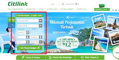 cara beli tiket pesawat citilink secara online
