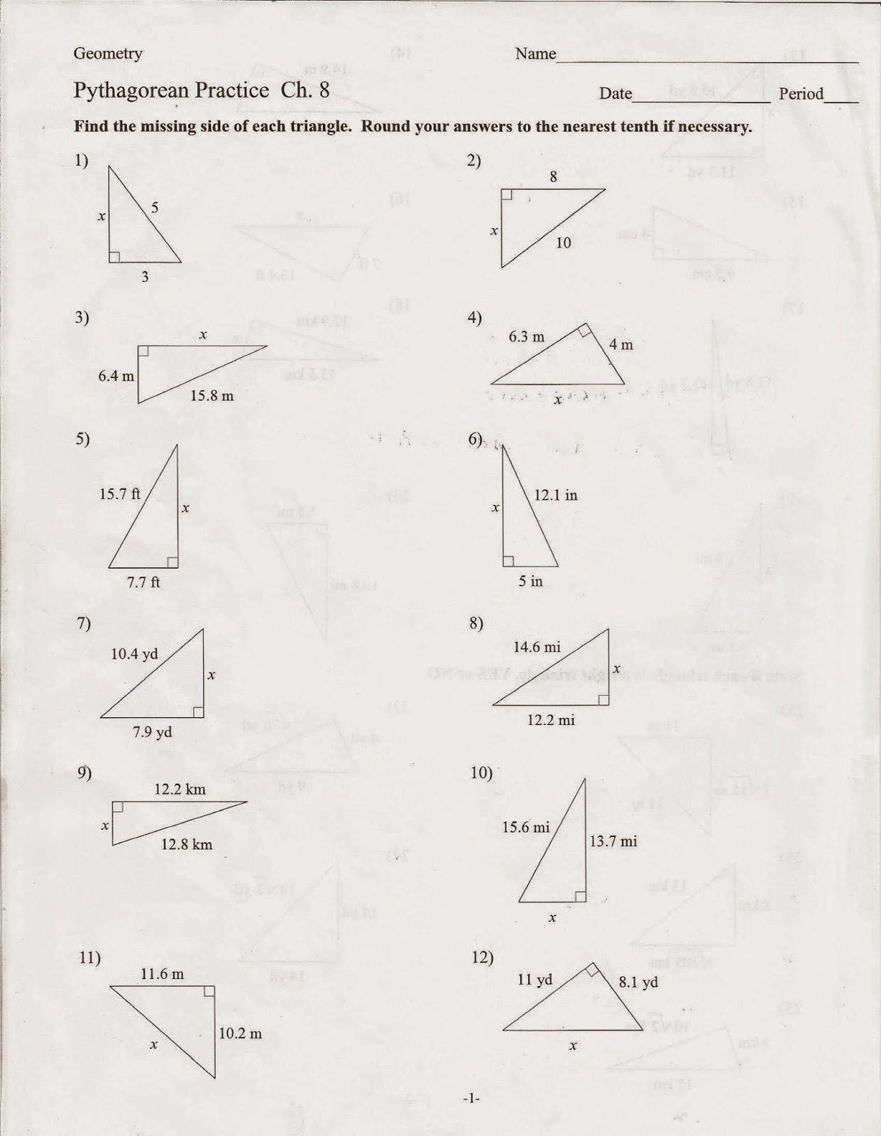 Geometry Worksheet Common Core Fr