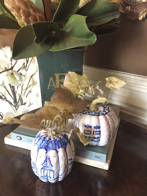 farmhouse chinoiserie spain hill farm fall decor pumpkins