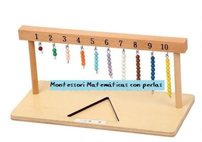 material montessori matematicas perlas