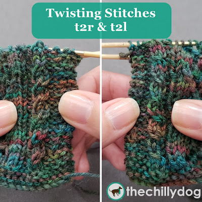 Knitting Tutorial: T2R and T2L (twist 2 right and twist 2 left) mock cables or twists