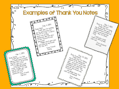 Writing Thank You Notes is a lost art, but a valuable skill! This post shares the parts of a thank you note, and has a freebie to make your own thank you cards!