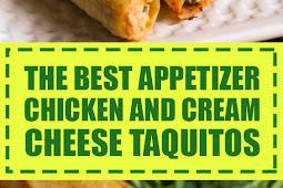 The Best Appetizer Chicken and Cream Cheese Taquitos