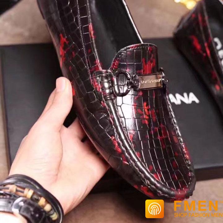 Giày lười nam D&G đế bệt siêu cấp GNDG-1003