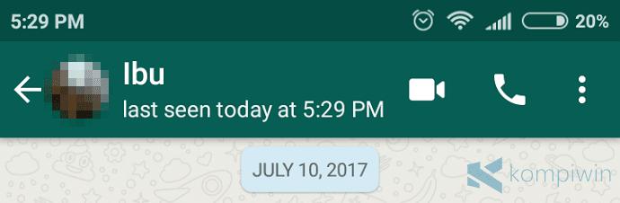 whatsapp last seen today