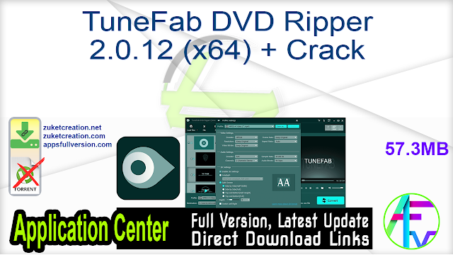 TuneFab DVD Ripper 2.0.12 (x64) + Crack