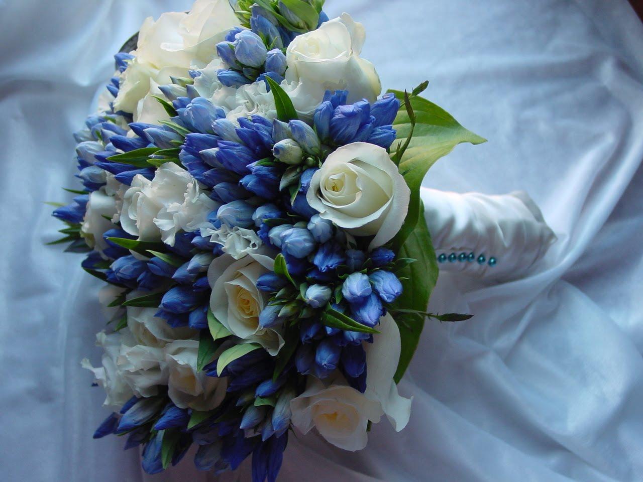 Wedding Flowers: Blue Wedding Bouquets